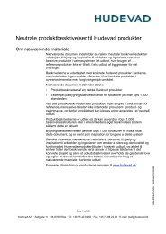 Neutrale produktbeskrivelser til Hudevad produkter