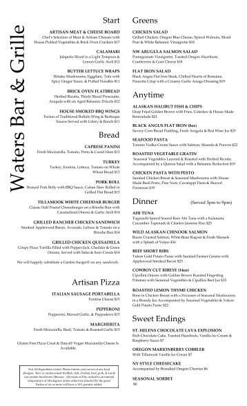Day Menu - Water's Grille (PDF) - Embassy Suites