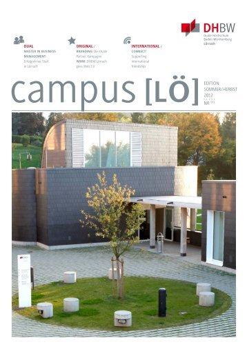 EDITION SOMMER / HERBST 2012 NR 001 - DHBW Lörrach