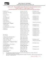 2012-13 D214 Fiscal Calendar Final - High School District 214