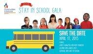 2015 Stay In School Gala