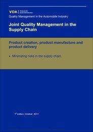 Minimizing risks in the supply chain - Vda Qmc
