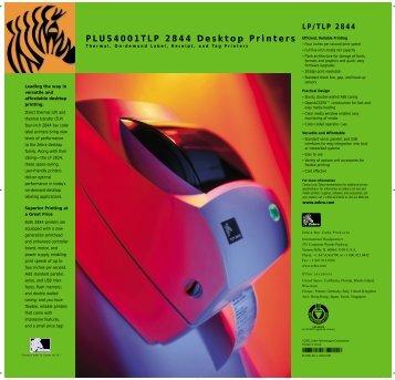 PLUS4001TLP 2844 Desktop Printers - Progetto 6 srl