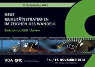 14. / 15. November 2012 - Vda Qmc