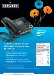 Un téléphone filaire élégant et innovant avec son ... - Discounteo
