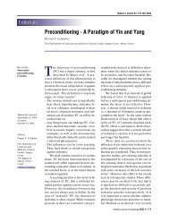 Preconditioning - The Hellenic Journal of Cardiology