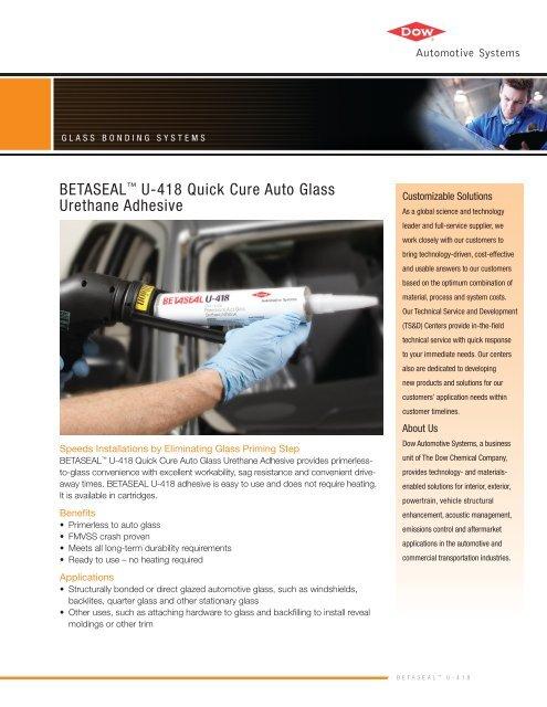 Betaseala U 418 Quick Cure Auto Glass Urethane Adhesive