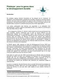 Plaidoyer DD 8 mars 2008 - Le Monde selon les femmes