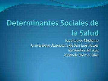 Determinantes Sociales de la Salud - eVirtual UASLP - Universidad ...