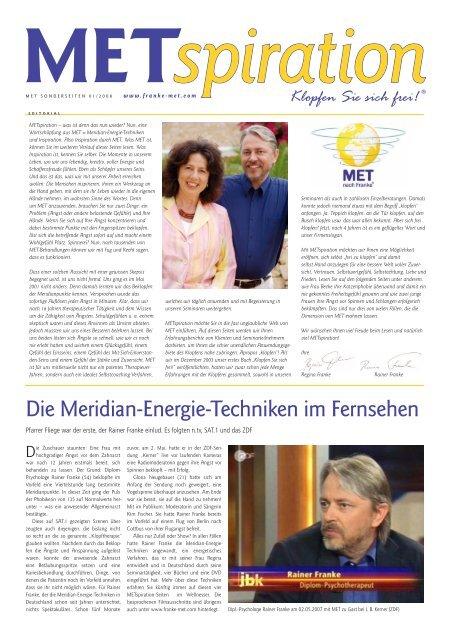 Ausgabe 01/2008 - MET nach Franke