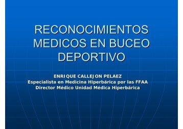 RECONOCIMIENTOS MEDICOS EN BUCEO DEPORTIVO - SEMM