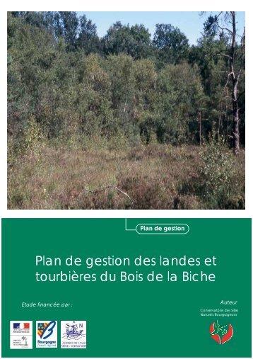 Plan de gestion des landes et tourbières du Bois de la Biche