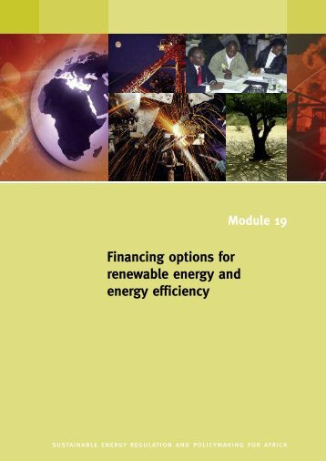 Financing options for renewable energy and energy efficiency - unido