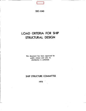 load criteria for ship structural design - Ship Structure Committee