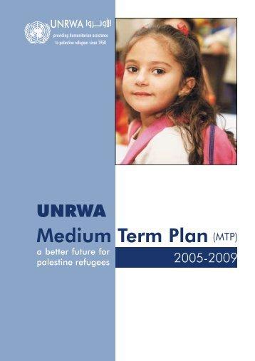 Medium Term Plan (MTP) - Unrwa