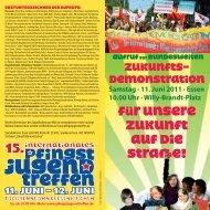 Aufruf zur Demo - Alternative Kommunalpolitik