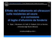 Effetto del trattamento ad ultrasuoni sulla resistenza ad ... - Assofond