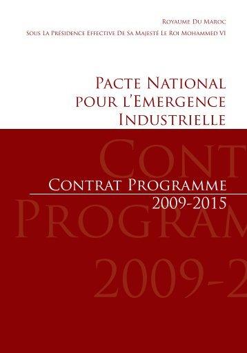 Pacte National pour l'Emergence Industrielle ... - Investir au Maroc