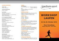 Workshop LAufeN - gieSom.com