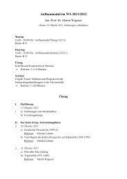 Aufbaumodul im WS 2011/2012 - Martin Wagener