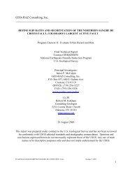 2006 Sangre de Cristo fault CO Low Resolution - GEO-HAZ ...