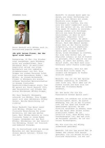 ein Interview mit Horst Neuhoff, dem Initiator - DFG Portal