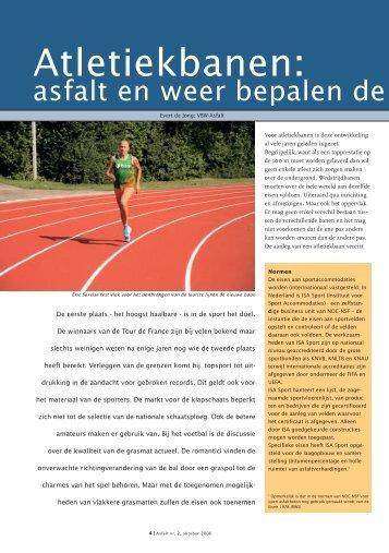 Atletiekbanen: asfalt en weer bepalen de kwaliteit - VBW-Asfalt