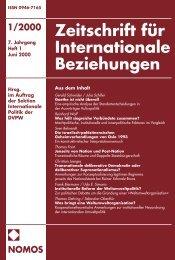 Goethe ist nicht überall - Zeitschrift für Internationale Beziehungen ...