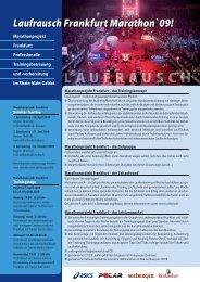 LaufrauschFrankfurt Marathon`09! - BMW Frankfurt Marathon
