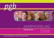 Jaarverslag PGB 2008 - PensioenfondsPGB
