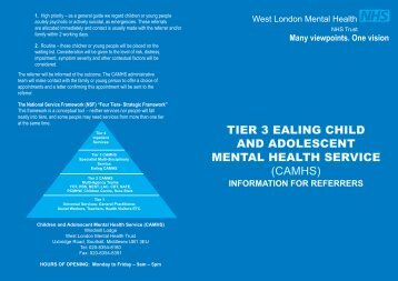camhs - West London Mental Health NHS Trust