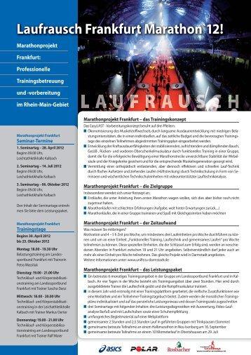 Laufrausch Frankfurt Marathon`12! - BMW Frankfurt Marathon