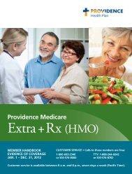 Providence Medicare Extra + Rx (HMO) member handbook