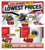 BIGGEST BRANDS, LOWEST PRICES! - Clive Anthony's