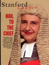 Spring 2003 – Issue 65 - Stanford Lawyer - Stanford University