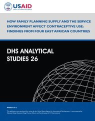 How Family Planning Supply and the Service ... - Measure DHS