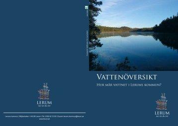 Vattenöversikt - Hur mår vattnet i Lerums kommun?