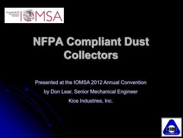 NFPA Compliant Dust Collectors