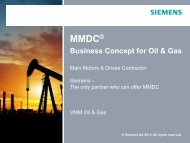 MMDC - Business Concept for Oil & Gas - Siemens Industry, Inc.