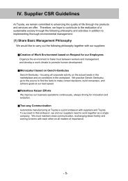 IV Supplier CSR Guidelines - Toyota