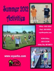 YOUTH LESSONS - Valley City Park and Rec