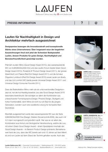 Laufen für Nachhaltigkeit in Design und Architektur mehrfach ...