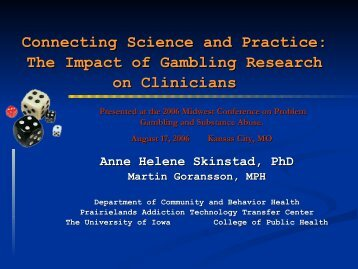 Connecting Science and Practice: The Impact of ... - 1-888-betsoff