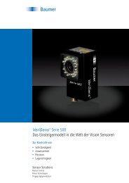 VeriSens® Serie 500 – Das Einsteigermodell in die Welt der Vision ...