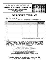borang-penyertaan-boling_homecoming-vi-2011 - UPM