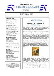 EK Nyt oktober 2004.pdf - Foreningen af Erhvervskvinder