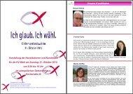 Vorstellung der Kandidatinnen und Kandidaten für die KV-Wahl am ...