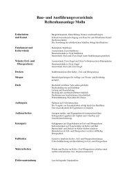 Bau- und Ausführungsverzeichnis Reihenhausanlage Molln - Braswag