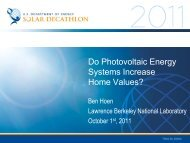 Do Photovoltaic Energy Systems Increase Home ... - Solar Decathlon