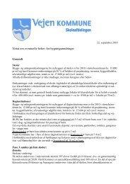 Notat om eventuelle behov for bygningsændringer - Vejen Kommune